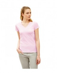 FOTL Lady Fit Valueweight Vneck T